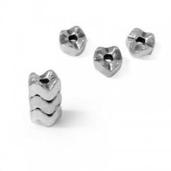Μεταλλική Ζάμακ Χυτή Χάντρα Ροδέλα 7mm (Ø2mm)