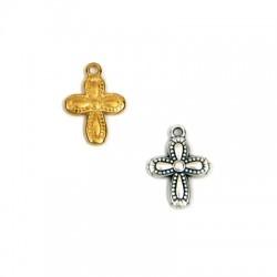 Breloque croix en Métal/Zamak 13x15mm