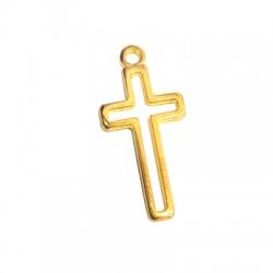 Breloque croix en Métal/Zamak 11x21mm
