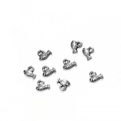 Zamak Charm Fish 7x4mm