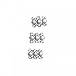 Μεταλλικό Ζάμακ Χυτό Στοιχείο Συνδετικό με 6 Τρύπες 9x12mm