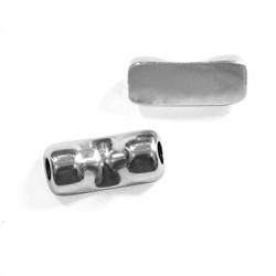 Μεταλλική Ζάμακ Χυτή Μπάρα 2 Υποδοχές 25x12mm (Ø5mm)