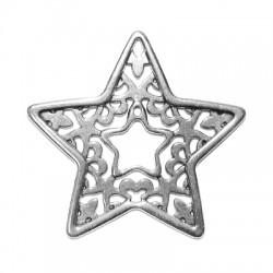 Μεταλλικό Ζάμακ Χυτό Μοτίφ Αστέρι 58x60mm