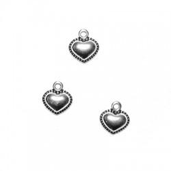 Zamak Charm Heart 12x10mm