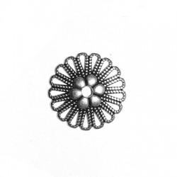 Μεταλλικό Ζάμακ Χυτό Στοιχείο Στρογγυλό Λουλούδι 23mm