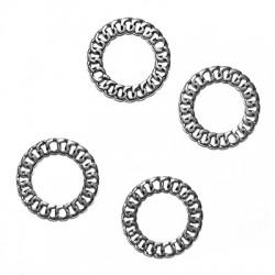 Μεταλλικό Ζάμακ Στρογγυλό Κύκλος Αλυσίδα για Μακραμέ 20mm
