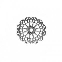 Μεταλλικό Ζάμακ Χυτό Στοιχείο Λουλούδι 39mm