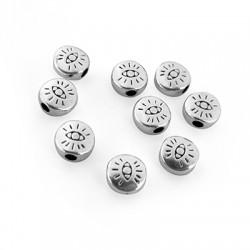 Perlina Schiacciata in Zama 6mm (Ø 1.9mm)