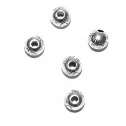 Μεταλλική Ζάμακ Χυτή Χάντρα Μάτι 6mm (Ø1.8mm)