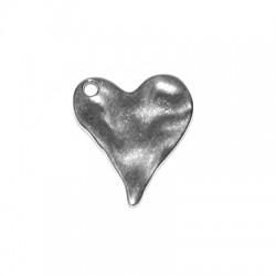Μεταλλικό Ζάμακ Χυτό Μοτίφ Καρδιά 30x36mm (Ø3.4mm)