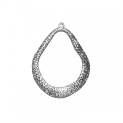 Zamak Pendant Irregular Oval 42x50mm