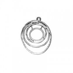Zamak Pendant Irregular Circles 26x30mm