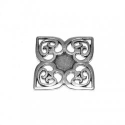 Μεταλλικό  Ζάμακ Χυτό Μοτίφ Λουλούδι 45mm