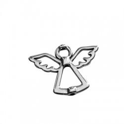 Μεταλλικό Ζάμακ Χυτό Μοτίφ Άγγελος Περαστός 28x22mm (Ø1.8mm)