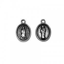 Zamak Charm Oval Virgin Mary w/ Jesus 11x14mm