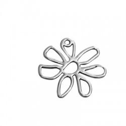 Μεταλλικό Ζάμακ Χυτό Μοτίφ Λουλούδι 26x25mm