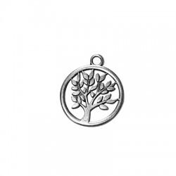 Μεταλλικό Ζάμακ Χυτό Μοτίφ Στρογγυλό Δέντρο της Ζωής 17mm