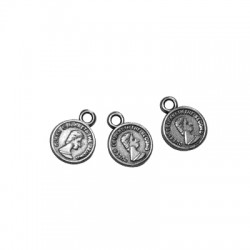 Zamak Charm Coin 8mm
