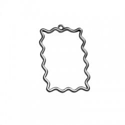 Μεταλλικό Ζάμακ Μοτίφ Παραλληλόγραμμο Περίγραμμα 27x39mm