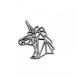 Ciondolo in Zama Origami Unicorno 20x29mm