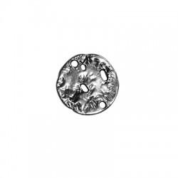 Μετ. Ζάμακ Χυτό Στοιχείο Στρογγυλό Διάτρητο για Μακραμέ 21mm