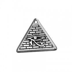 Μεταλλικό Ζάμακ Χυτό Μοτίφ Τρίγωνο Μάτι Ρα 28x25mm