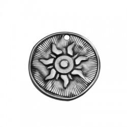 Μεταλλικό Ζάμακ Χυτό Μοτίφ Στρογγυλό  Ήλιος 25mm