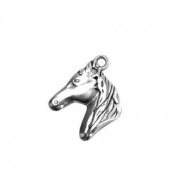 Zamak Pendant Horse Head 23x27mm