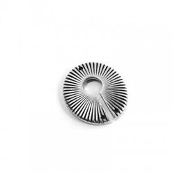 Μεταλλικό Ζάμακ Χυτό Μοτίφ Στρογγυλό Γεωμετρικό 23mm