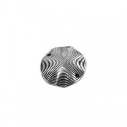 Μεταλλικό Ζάμακ Χυτό Στοιχείο Δίσκος για Μακραμέ 25mm