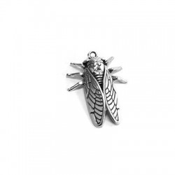 Zamak Pendant Cicada 21x27mm