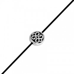 Zamak Slider Bead w/ Flower 11mm (Ø 1.8mm)