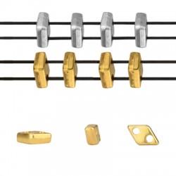 Μεταλλικό Ζάμακ Χυτό Στοιχείο Περαστό 2.3x7mm/2.2mm (Ø1mm)