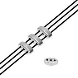 Zamak Bead Trio 3.2x8.4mm/3.2mm (Ø1mm)
