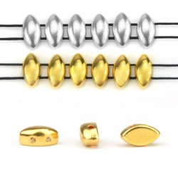 Zamak Bead Twin Nail 5x8mm/4mm (Ø1mm)
