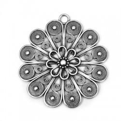 Μεταλλικό Ζάμακ Χυτό Μοτίφ Λουλούδι 60mm