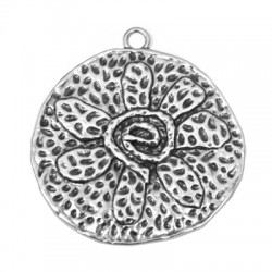 Μεταλλικό Ζάμακ Χυτό Μοτίφ Στρογγυλό Λουλούδι (~65x63mm)
