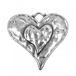 Zamak Pendant Heart 65x61mm