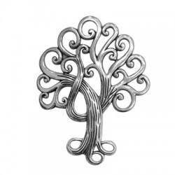 Μεταλλικό Ζάμακ Χυτό Μοτίφ Δέντρο της Ζωής 58x74mm