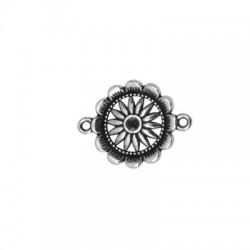 Μεταλλικό Ζάμακ Χυτό Στρογγυλό Λουλούδι για Μακραμέ 21mm