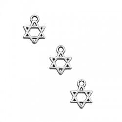 Zamak Charm Star of David 9x10mm