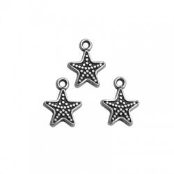 Zamak Charm Starfish 12mm