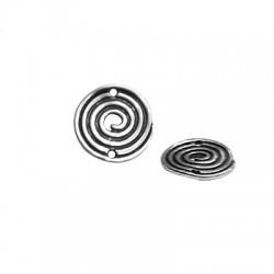 Μεταλλικό Ζάμακ Χυτό Στρογγυλό Σπείρα Μακραμέ 20mm (Ø1.8mm)