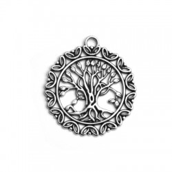 Μεταλλικό Ζάμακ Χυτό Μοτίφ Στρογγυλό Δέντρο της Ζωής 46mm