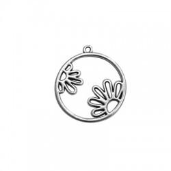 Μεταλλικό Ζάμακ Χυτό Μοτίφ Στρογγυλό Λουλούδια 30mm