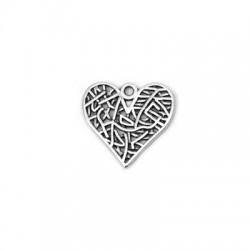 Μεταλλικό Ζάμακ Χυτό Μοτίφ Καρδιά 19x18mm