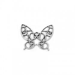 Zamak Pendant Butterfly 29x25mm