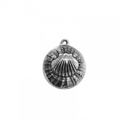 Zamak Pendant Sea Urchin w/ Shell 25mm