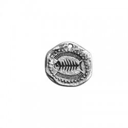 Ciondolo in Zama Irregolare Spina di Pesce 25mm