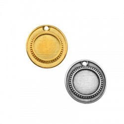 Ciondolo in Zama Cornice Irregolare 24x27mm (int. 15mm)